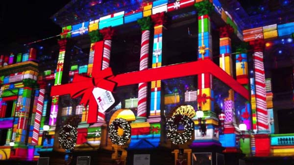 Melbourne Town Hall Christmas Projections maxresdefault